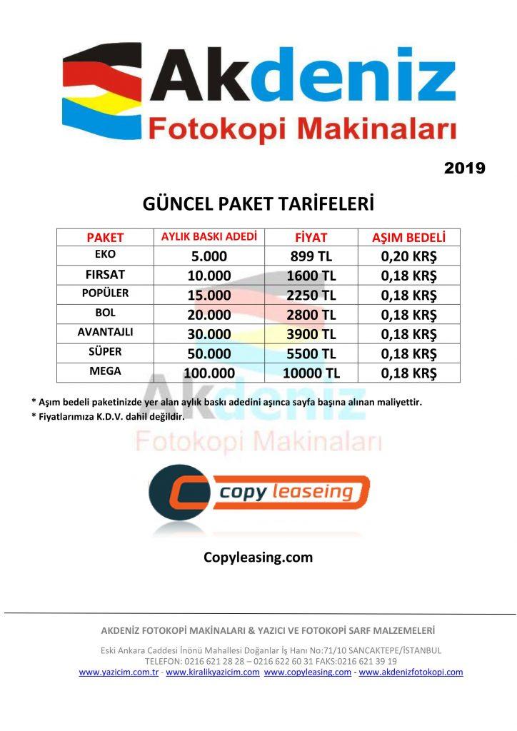yazıcı kiralama fiyatları fotokopi kiralama fiyatları